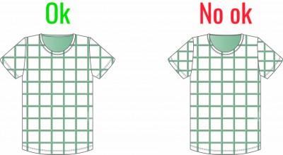 puntos clave costura ajustar cuadros prenda tejido adjust seam garment fabric
