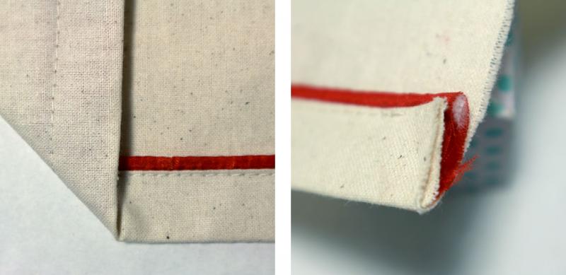 Dobladillo Doble con cordón envivado