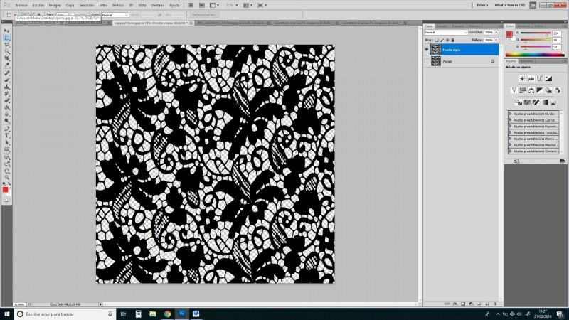 rapport bien transparente Aplicar tejidos a escala en nuestros diseños en photoshop
